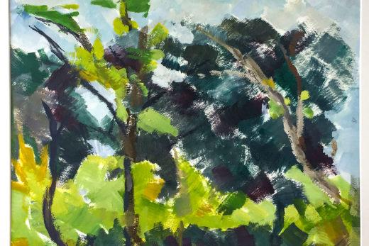 Le Mistral, Huile sur papier, 39x29