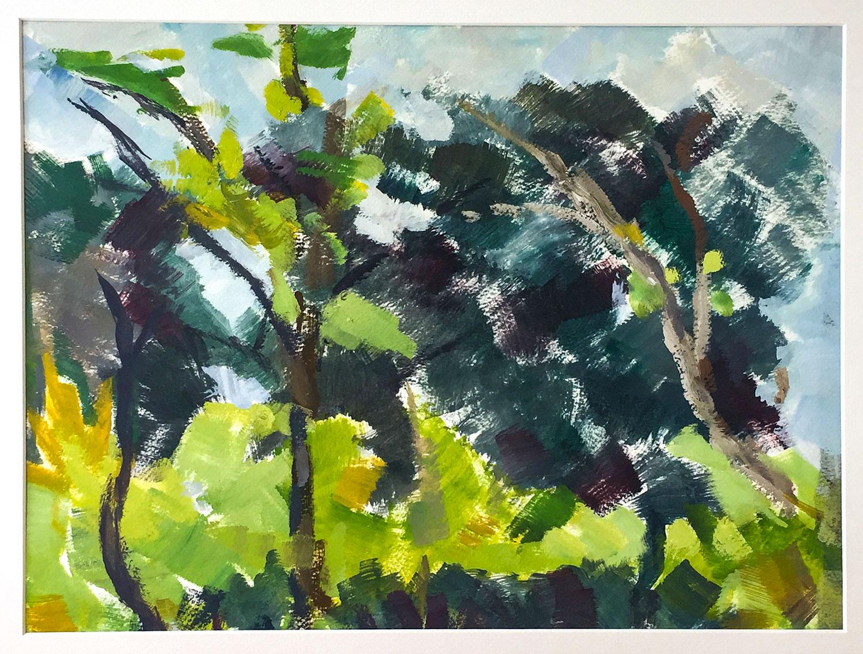 Le Mistral - huile sur papier - 39x29