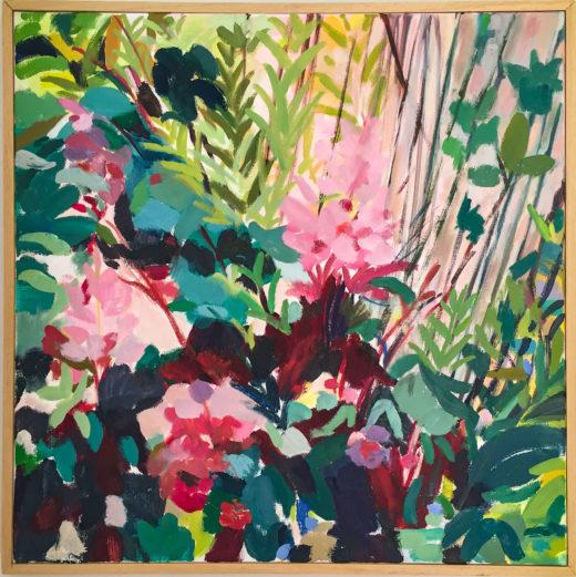 Astilbes, Huile sur toile, 50x50cm