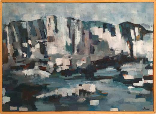 Falaises de Bonifacio, huile sur toile, 65x46