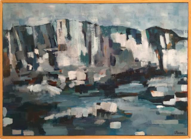 Falaises de Bonifacio - huile sur toile - 65x46