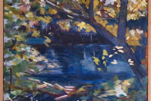 L'Aqueduc de Roquefavour, huile sur toile, 65x54