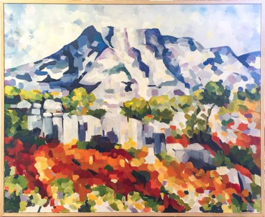 La Montagne St-Victoire, Huile sur toile, 100x80cm