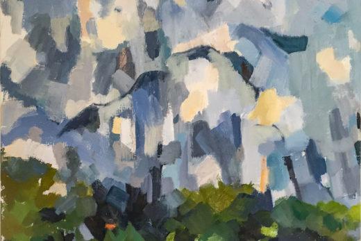 La Montagne, Huile sur toile, 46x54