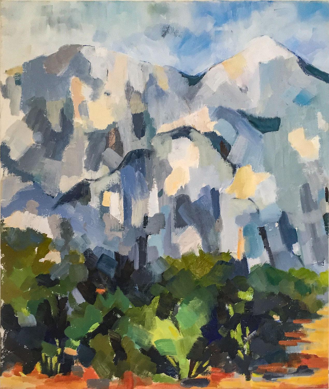La Montagne - Huile sur toile - 46x54