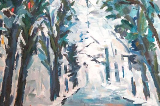 La forêt de St-Germain en Laye, huile sur toile, 54x65cm