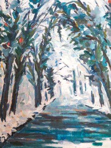La forêt de St-Germain en Laye - huile sur toile - 54x65cm