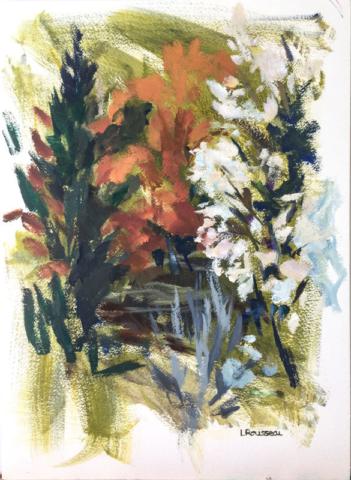 Le Printemps - Huile sur papier - 28x39