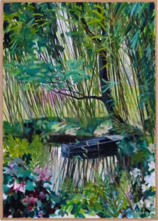 L'enchantement de Giverny, huile sur toile, 65x92
