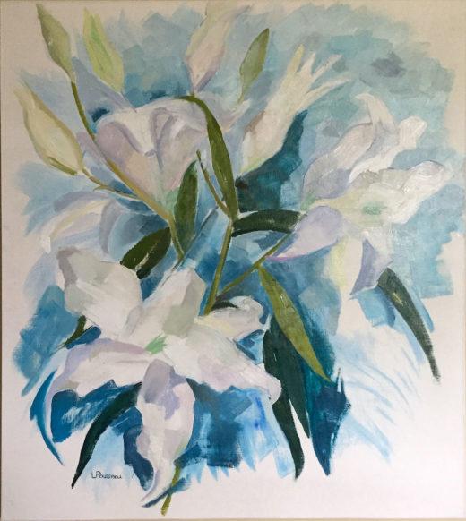 Lily, huile sur papier, 59x67