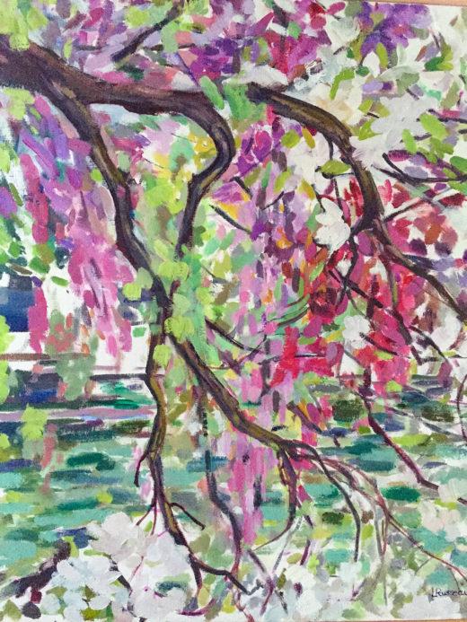 Lisle sur la Sorgue, Huile sur toile, 54x65