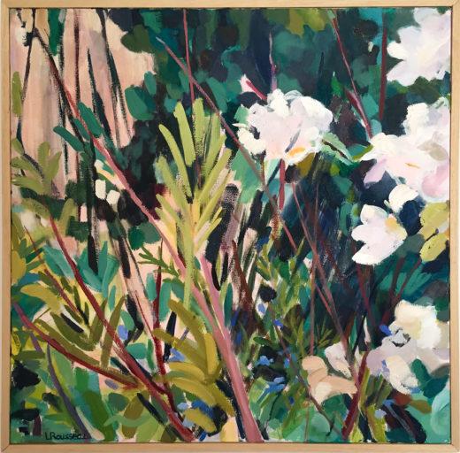 Ornithogale, huile sur toile, 50x50