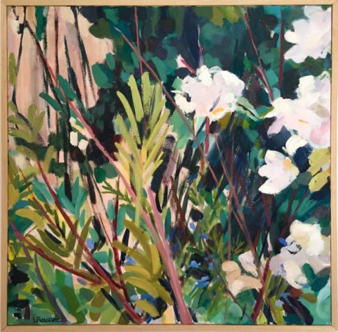 Ornithogale - huile sur toile -50x50