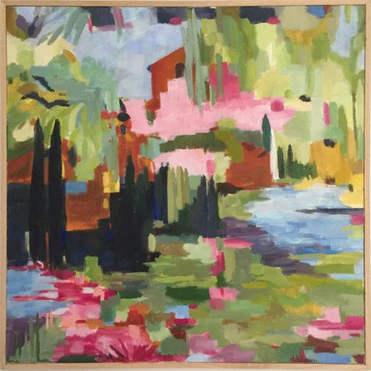 Pink-Clouds, huile-sur-toile, 60x60cm